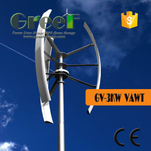 De kleine Verticale Turbine van de Wind voor 3kw op het Systeem van het Net