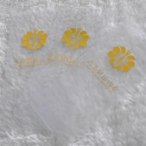 Balise de pivotement en PVC avec marquage à chaud pour les accessoires du vêtement