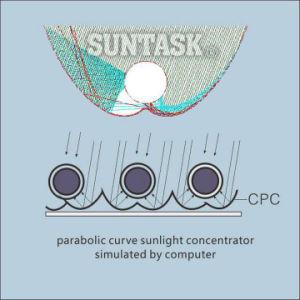 CPC Heat Pipe Solar Collector (SHC) con Solar Keymark, En12975