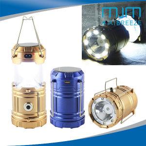 工場直売1W+8LED再充電可能な太陽キャンプライトおよびLEDの懐中電燈