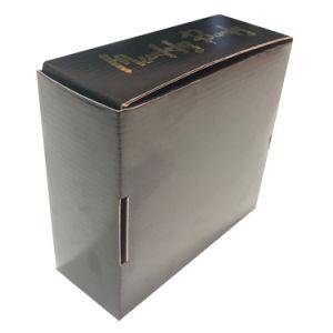 Pliage Mailer Boîte en carton ondulé noir avec logo Fleuret Commerce de gros