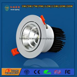 IP20 90lm/W 5W COB LED haute puissance de l'aluminium vers le bas de plafond Éclairage Spotlight pour l'Amusement Park