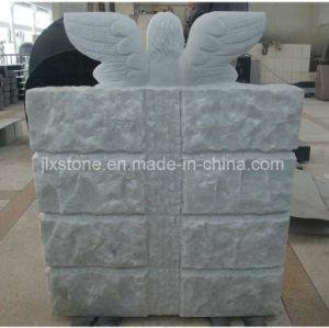Livre de marbre blanc avec Angel Statue Monument