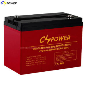 De beweging veroorzakende Diepe Cyclus van de Batterij 6V 420ah van het Gel voor de Opslag van de Macht