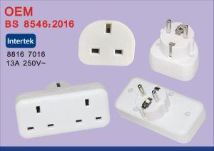 BS8546 UE Universal para o Reino Unido Conversor Adaptador de viagem com USB