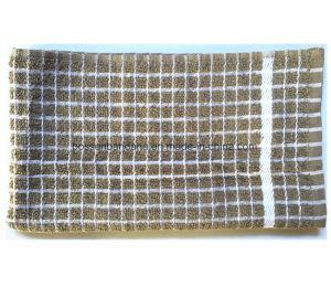 Produire OEM Custom vérifié Jacquard Coton Terry Serviette Serviette de cuisine
