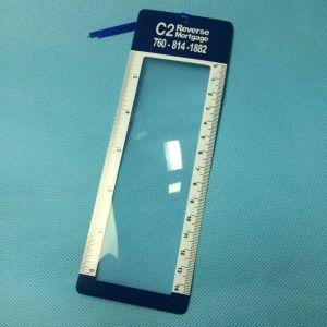 Hw801 PVCリボン、歓迎されたカスタムロゴが付いている拡大の定規のブックマーク
