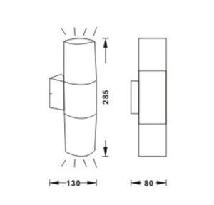 Цена с возможностью горячей замены IP44светодиодный индикатор для установки на стене подсветка 8291b