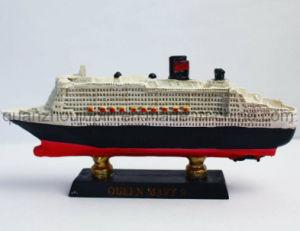 Résine oem craft bateau bateau modèle pour la décoration de bureau