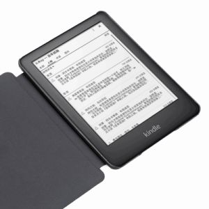 Estojo de couro tampa inteligente com auto acorde para Amazon Kindle Novinhas 2019