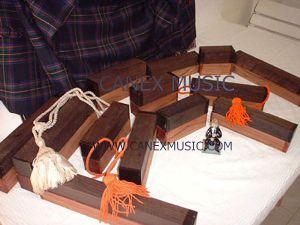 Ebène et bois noir pour Highland Bagpipes (HBP)
