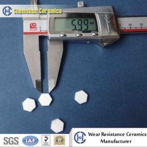 Telha cerâmica quadrada resistente da abrasão para o retardamento da polia com ondulações