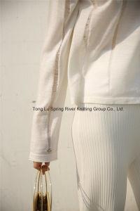 女性のためのウールのブレンドの低下の肩の袖のセーター
