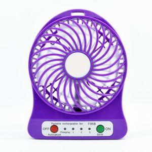 Ventilateur tenu dans la main de batterie de refroidisseur d'air de ventilateur de mini ventilateur Pocket de bureau