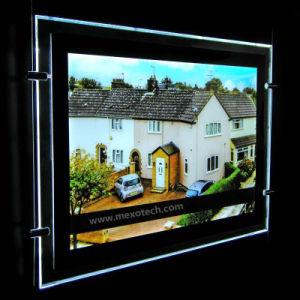 LEDの軽いパネルが付いているアクリルのWindowsの表示の広告