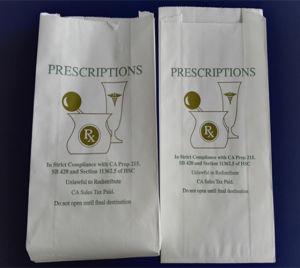 Konkurrenzfähiger Preis-zurückführbarer weißer Packpapier-Apotheke-Verpackungs-Beutel