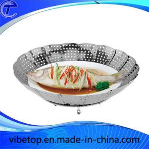 timeless design 67a8d 6e01d Al vapor multifunción cesta de fruta de la placa de acero inoxidable de  alta calidad