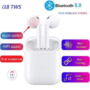 Auriculares Bluetooth, I18 de Tws Wireless Bluetooth 5.0 Auriculares con micrófono, sonido 3D estéreo auriculares intrauditivos Auriculares para correr Deportes