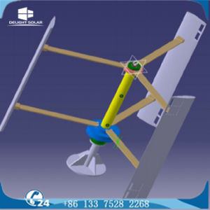 Vertikaler Wind-Generator des Mittellinien-Wind-Turbine-Landwirtschafts-Bewässerungssystem-MPPT