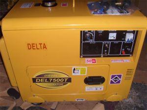 新しいデザイン6kVA 5kw小さい無声ディーゼル発電機