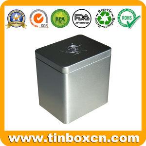 Té rectangular de metal, contenedor de estaño con Food Grade
