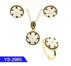 L'oro nuziale dei monili 14K di modo all'ingrosso ha placcato l'argento sterlina 925 o i monili del cuore del diamante dell'ottone impostati per le cerimonie nuziali