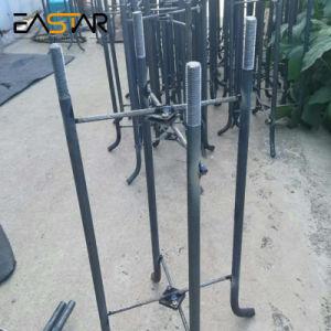 Ce/RoHS/ISO aprobó cónico de acero al carbono de forma octogonal Farola de hierro fundido