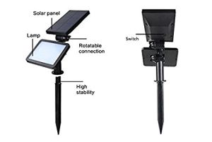 LEDランプのリチウム電池が付いている太陽壁ライト