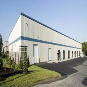 前に倉庫のためのプレハブの鉄骨フレームの構造の建物を設計することを製造する