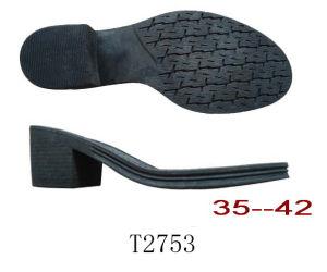 La mode de haut talon de Blacke initialise la semelle unique de chaussure en cuir de Madame Shoe Sole