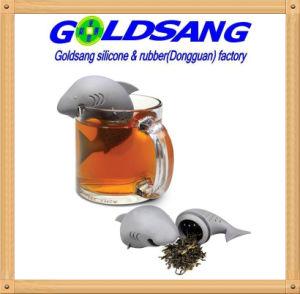 Горячая продажа красочные Shark силиконовая чай Infuser