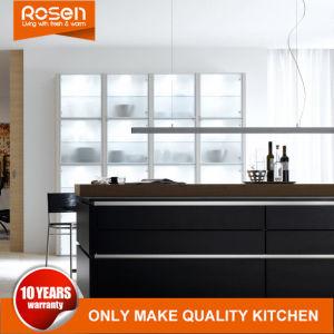 Melamin-Ende-Schwarz-Farben-Entwurfs-Küche-Schrank-Möbel kaufen