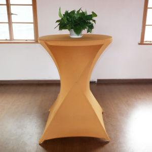 Polyester tissu élastique Multi Couleur capot table de mariage