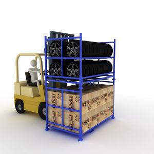 Peinture de couleur de l'entrepôt de stockage pliable Tire Rack