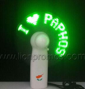 Logotipo personalizado EL piscar Publicidade Ventilador eléctrico