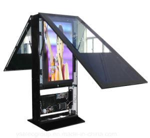 Affissione a cristalli liquidi esterna del contrassegno di Digitahi del video dello schermo di tocco di Yashi che fa pubblicità al chiosco della visualizzazione