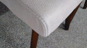 PU mesa de comedor tapizada silla con brazos
