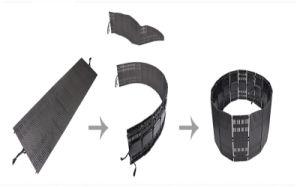 Imperméable P10 LED programmable souple de l'écran vidéo pour l'étape/event/Show
