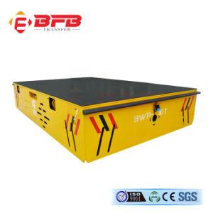 Тяжелый груз Trackless передачей тележка для стальных пластин на цементной поверхности пола