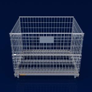 Entrepôt de stockage de Wire Mesh empilables de la cage de palette contenant de métal