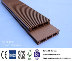 O composto de plástico para Piscina Piscina Antiderrapagem Deck WPC