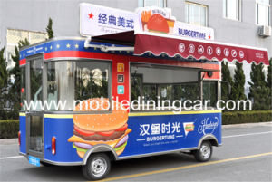 Mobile Mobile fast food La cuisine de la nourriture chaude Van pour la vente