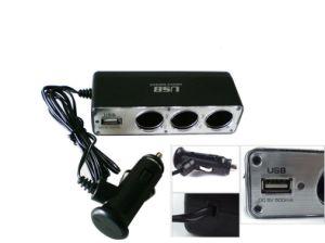 CC Power Charger/Adapter Socket di 12V 3 Way Car Cigarette Lighter Socket/USB