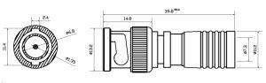 Connettore maschio impermeabile di compressione BNC del CCTV per RG6 cavo (CT5078S/RG6)