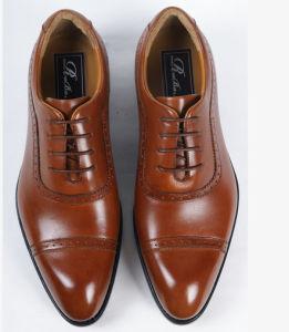 Clásico de negocios de moda de hombre zapatos de cuero