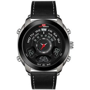 Mens Watch Dom digital de quartzo Fashion assista à prova de qualidade cronógrafo dupla do tempo assista a vigilância de plástico