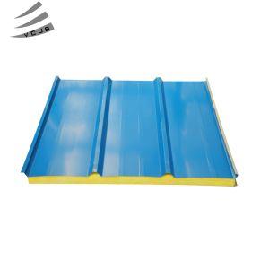 Mur isolé le panneau de toiture EPS/PG/IRP/laine de roche/polyuréthane/laine de verre de panneaux sandwich insonorisées