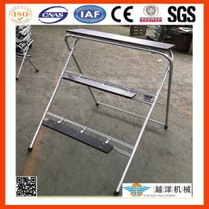 Acesso em face dupla degrau da escada de alumínio (DAS)