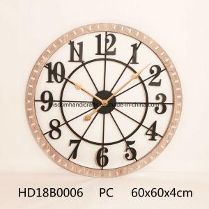 Décoration rustique en bois et métal horloge murale pour la maison