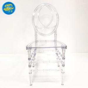 Venda por grosso de fábrica de resina de eventos de casamento/PC Cristal de acrílico Chiavari Ghost Cadeira de jantar